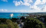 Ocho Rios, Jamaica with Cruise Ship