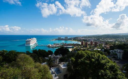 Ocho Rios, Jamaica with Cruise Ship
