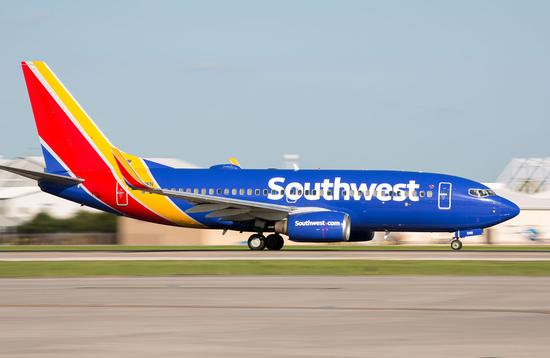 Southwest plane taking off