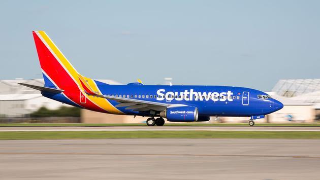 Southwest plane taking off