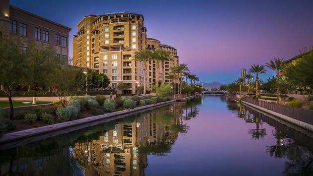 Arizona Canal running through Scottsdale