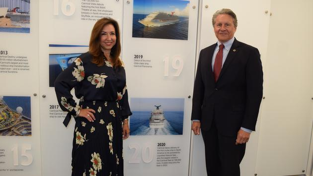 Carnival Cruise Line President Christine Duffy and Canaveral Port Authority Port Director and CEO Capt. John Murray