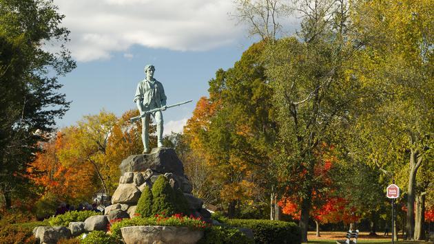The Minuteman Statue in Lexington, Massachusetts