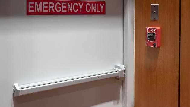 emergency, exit, door