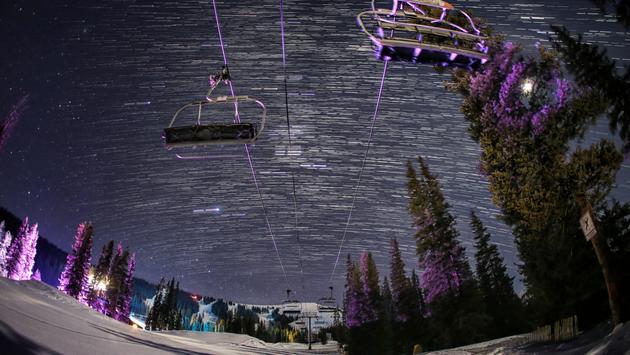 Copper Mountain, ski, mountain, night, stars, skiing