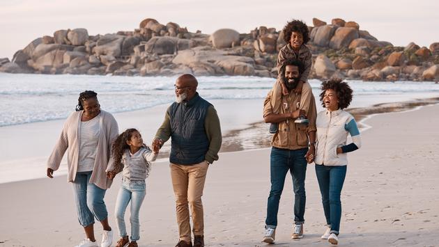 black travel family