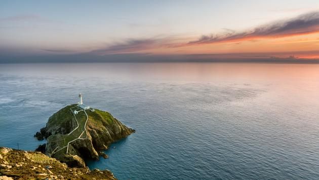 lighthouse in Holyhead, Anglesey, North Wales