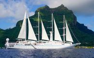 Windstar Cruises' Wind Spirit in Bora Bora, French Polynesia