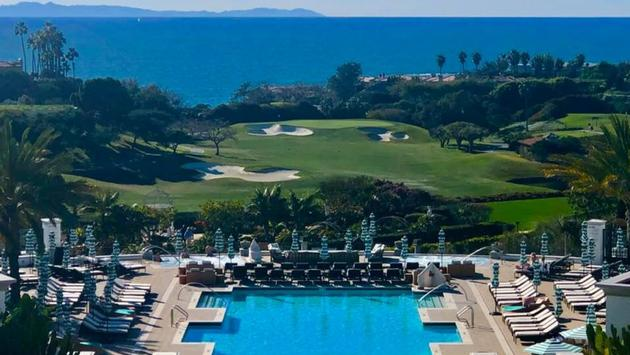 View from Monarch Beach Resort in Dana Point in southern California