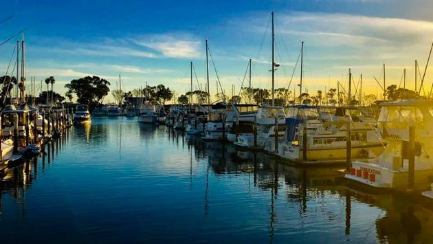 Dana Point Marina in southern California