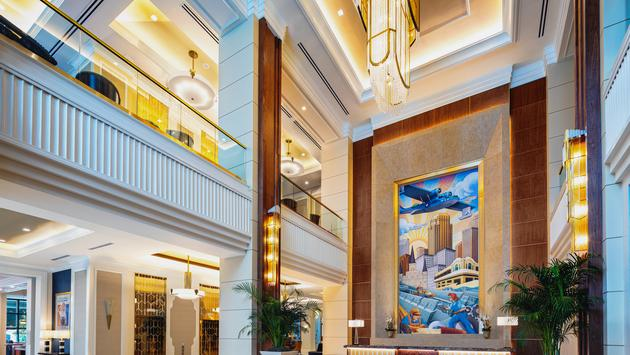 Lobby, The Higgins Hotel & Conference Center.