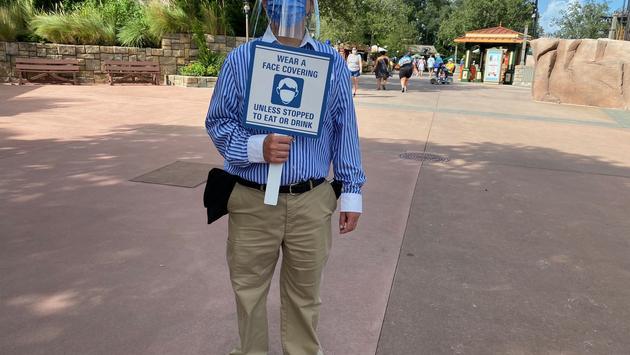 Mask Reminder at Walt Disney World