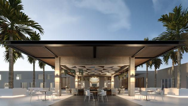 Breeze, an outdoor lobby bar at Hyatt Ziva Riviera Cancun