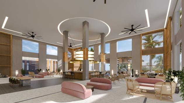 Infusions and oceanview lobby at Hyatt Ziva Riviera Cancun