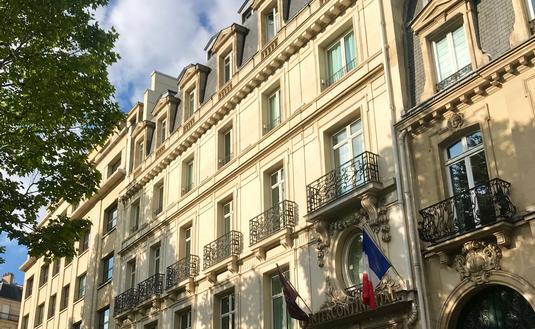 Facade of the Intercontinental Paris Marceau Hotel