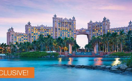 Receive $100 in Instant Savings at Atlantis Paradise Island Bahamas