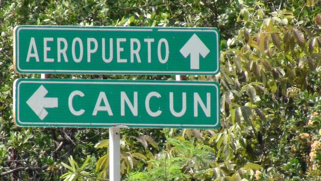 Cancun, airport, signs