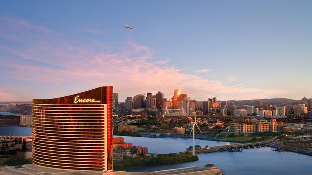 Encore Boston Harbor Aerial View