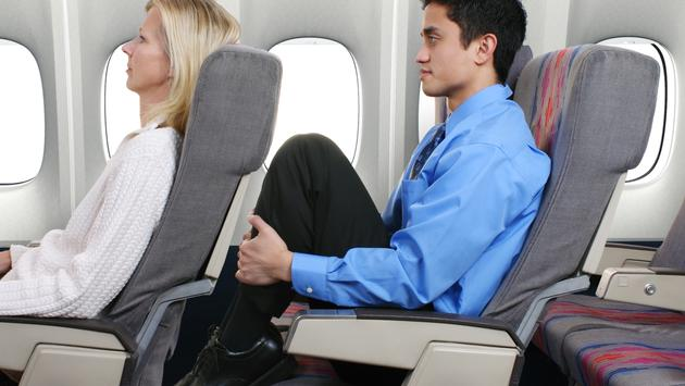 Airplane seat recline