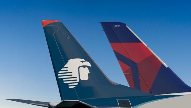Aeroméxico y su socio Delta Air Lines operarán en diciembre más de 4,300 vuelos entre México y Estados Unidos. (Foto de Aeroméxico)