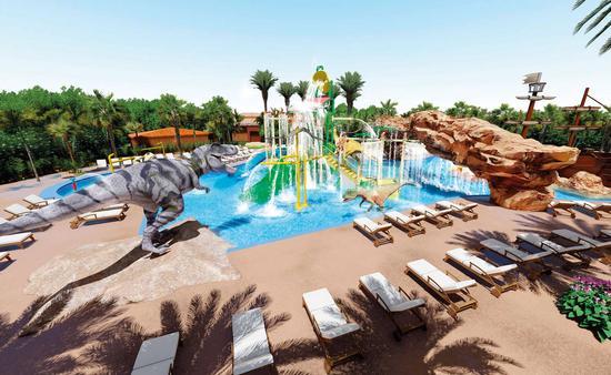 Planet Hollywood Cancun Jurassic Splash Pad