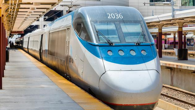 Amtrak Acela Express Train at Boston's South Station