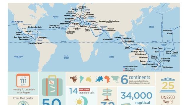 World map, princess cruises, cruise