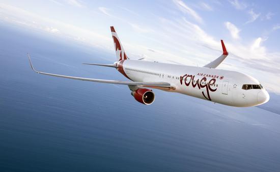 Avion d'Air Canada Rouge
