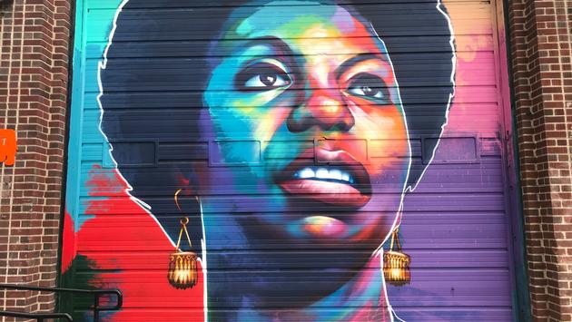Nina Simone street mural in Denver's River North District