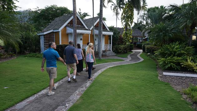 Grounds of th Four Seasons Nevis.