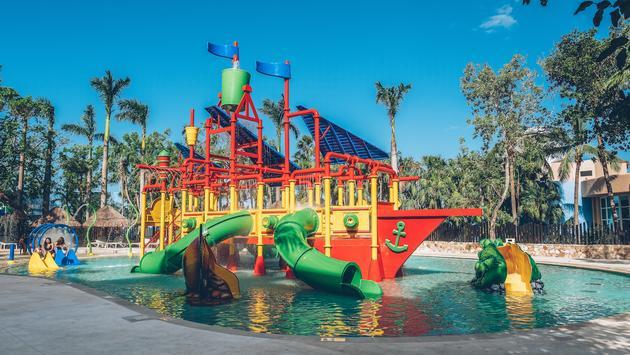 The new waterpark in Iberostar's Paraiso resort complex in Riviera Maya.