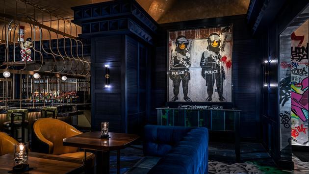 Banksy, art, restaurant