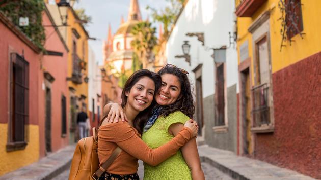 Mexico, latinas, friends, traveling, hispanic