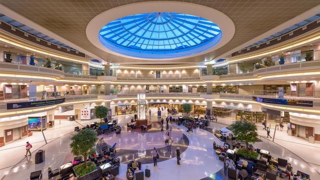 The main hall inside Hartsfield-Jackson Atlanta International Airport