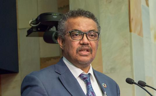 World Health Organization (WHO) director-general, Tedros Adhanom Ghebreyesus.