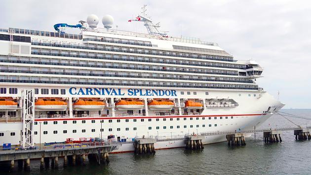 Carnival Cruise Line's Carnival Splendor docked in Long Beach, California