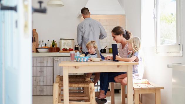 Family enjoying a homestay