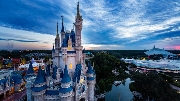View over Magic Kingdom Park in Florida.