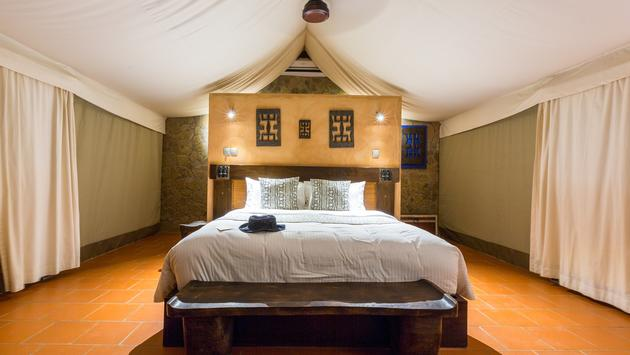 Guest room at Zaina Lodge in West Africa