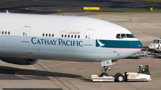 Cathay pacific, plane, Cathay