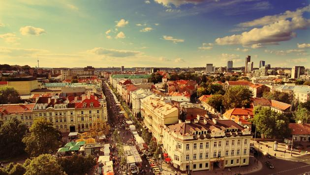 Panorama of Vilnius, Lithuania