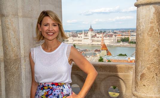 Travel TV Host Samantha Brown at Hungarian Parliament