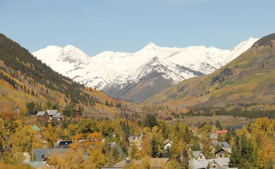 Crested Butte, Colorado from above