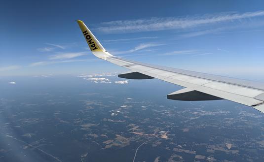 Vuelo de Spirit Airlines sobre Georgia. (Foto de Eric Bowman)