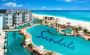The new all-beachfront Dutch Village at Sandals South Coast, Jamaica.