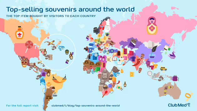 Top-selling souvenirs around the world
