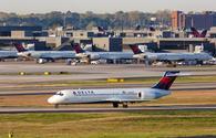 A Delta Air Lines Boeing 717-200 at Atlanta's Hartsfield-Jackson International Airport