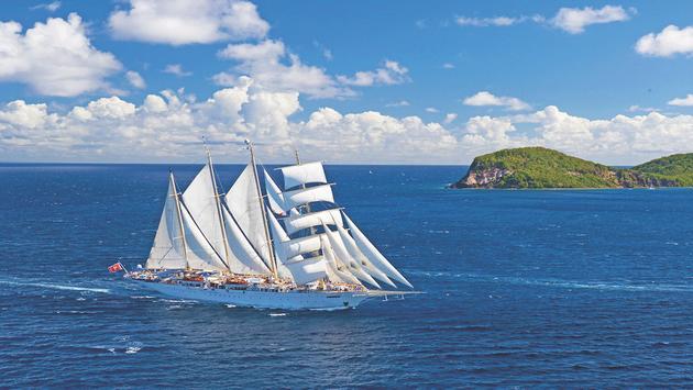 Star Clipper ships feature teak decks and modern amenities
