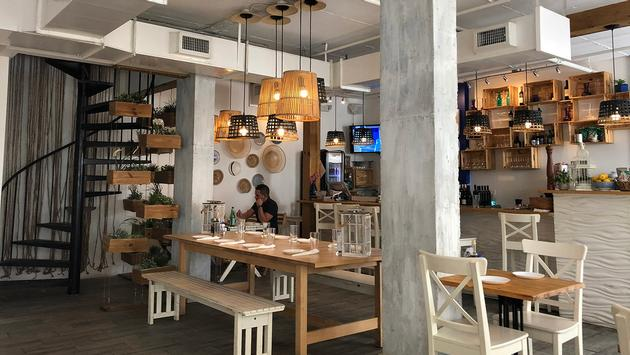 Enjoy Greek delights at Meraki Greek Bistro in downtown Miami.