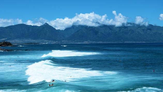 Mountain view from Hookipa Beach, Maui